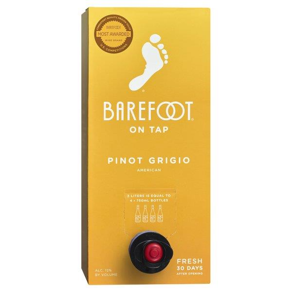 Barefoot On Tap Pinot Grigio 3L Box
