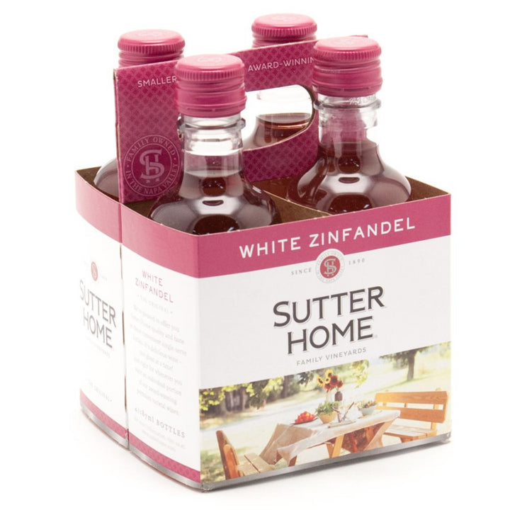 Sutter Home White Zinfandel 187ml 4 pack