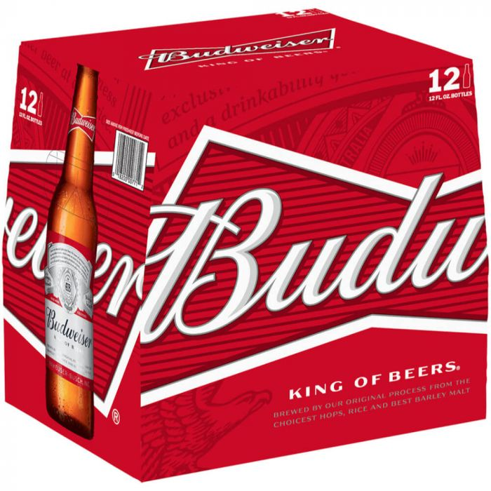 Budweiser 12oz Bottle 12 Pack