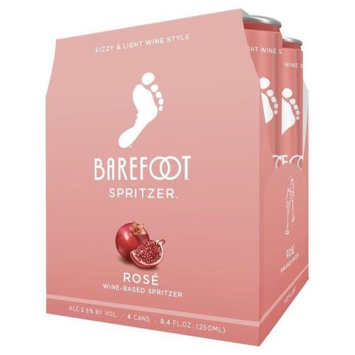 Barefoot Spritzer Rose 8.4oz Can 4 Pack