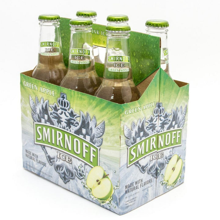 Smirnoff ice Green Apple 11.2 oz Bottle 6 Pack
