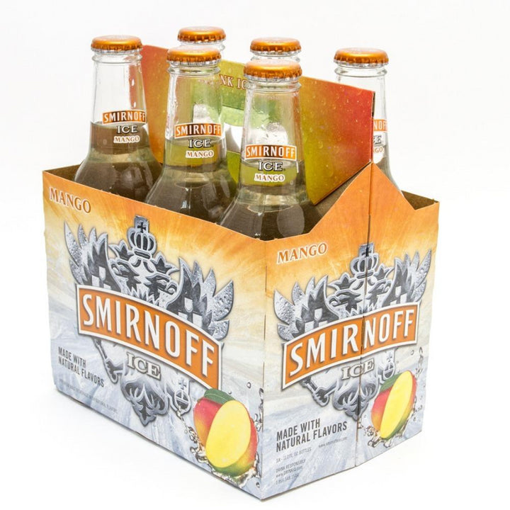 Smirnoff Ice Mango 11.2oz Bottle 6 Pack