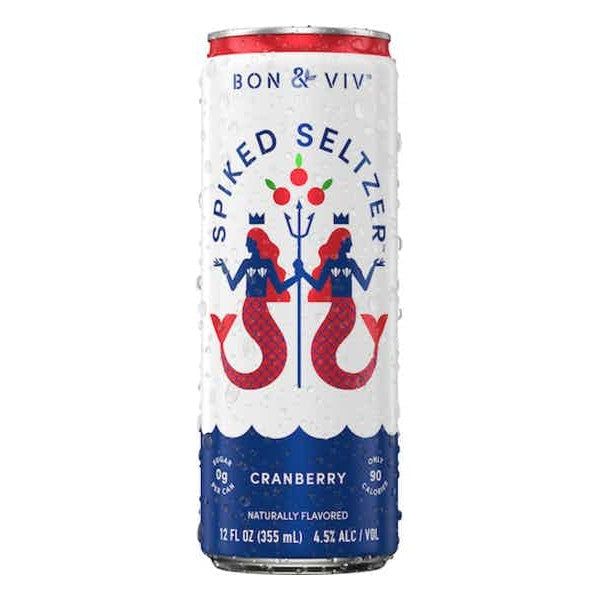 BON & VIV Spiked Seltzer Cranberry 12oz Can