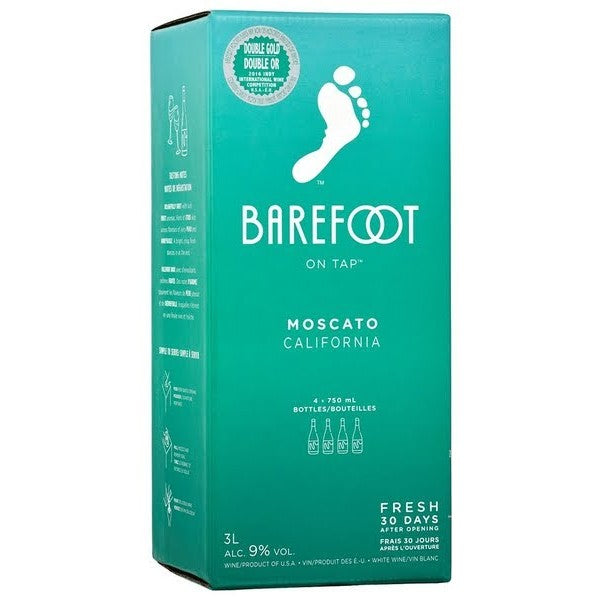 Barefoot On Tap Moscato 3L Box