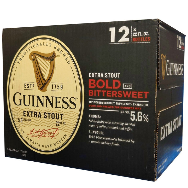 Guinness Extra Stout 22oz Bottle 12 Pack