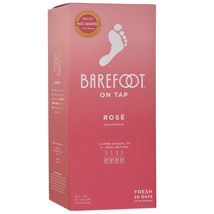 Barefoot On Tap Rose 3L Box