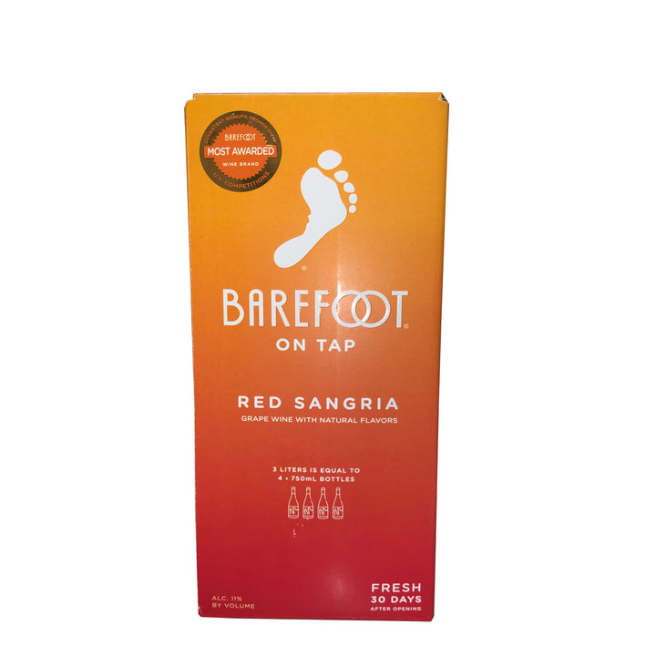 Barefoot Red Sangria Box 3L