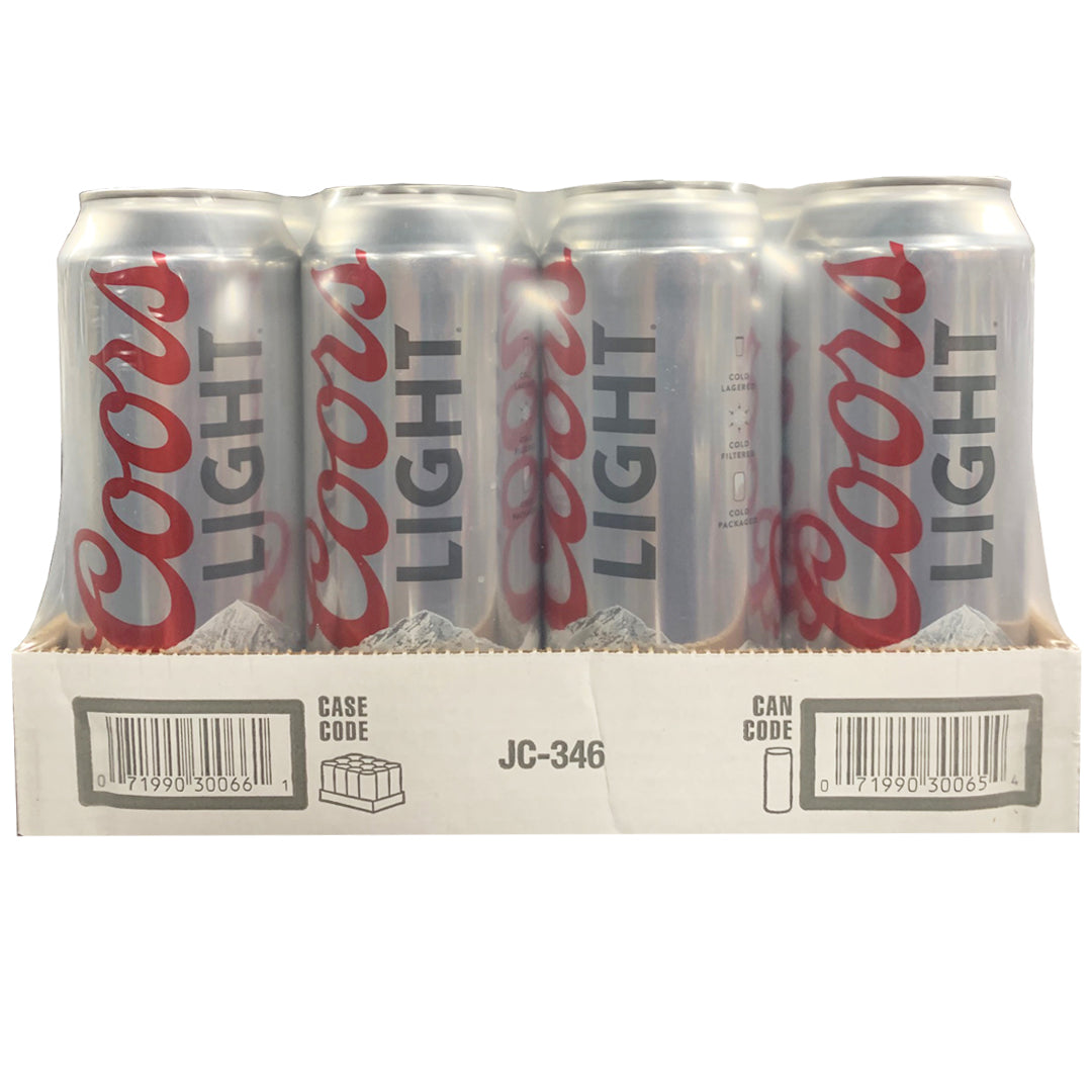 Coors Light 24oz Can 12 Pack Station Wines Liquor