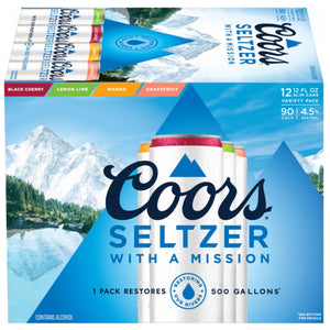 Coors Light Seltzer 12oz Can 12 Pack