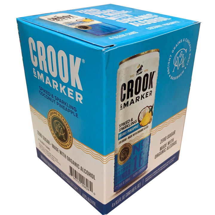 Crook & Marker Coconut Pineapple 11.5oz Can 4 Pack