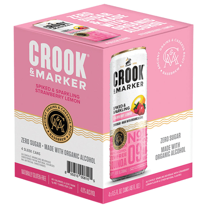 Crook & Marker Strawberry Lemon 11.5oz Can 4 Pack