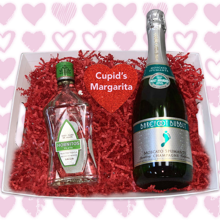 Cupid's Margarita Cocktail Basket