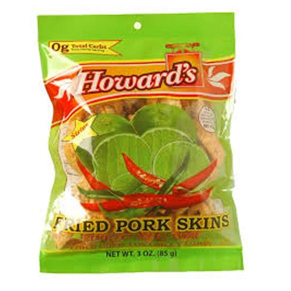 Howard's Fried Pork Skins Lime-Chili Flavor