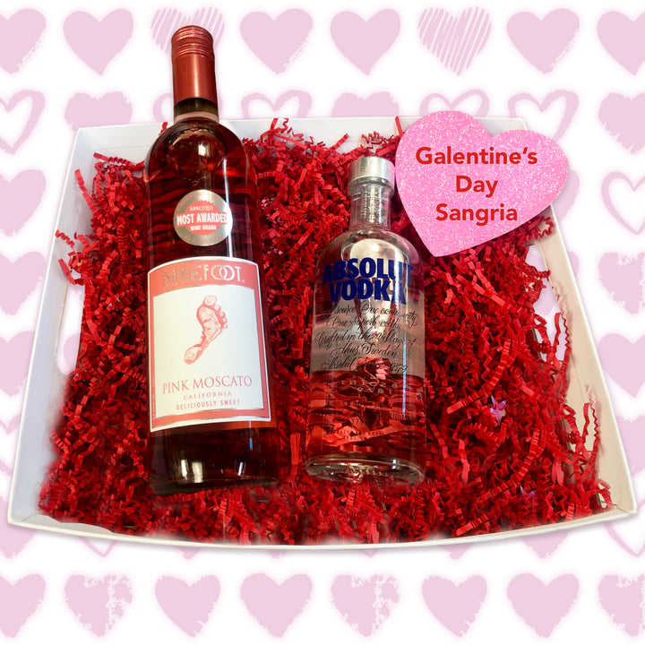 Galentine's Day Sangria Cocktail Basket