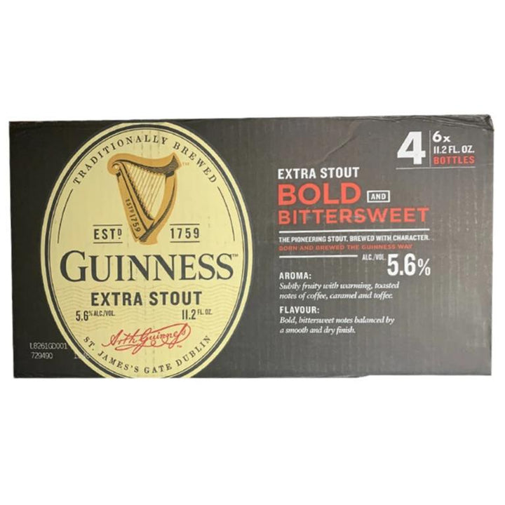 Guinness Extra Stout 11.2oz Bottle 24 Pack