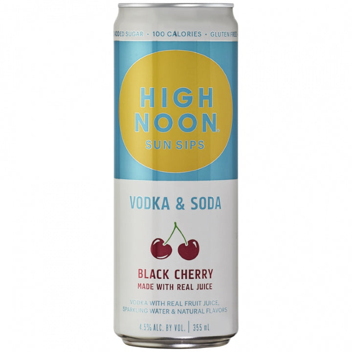 High Noon Sun Sips Vodka & Soda Black Cherry Can 355ml