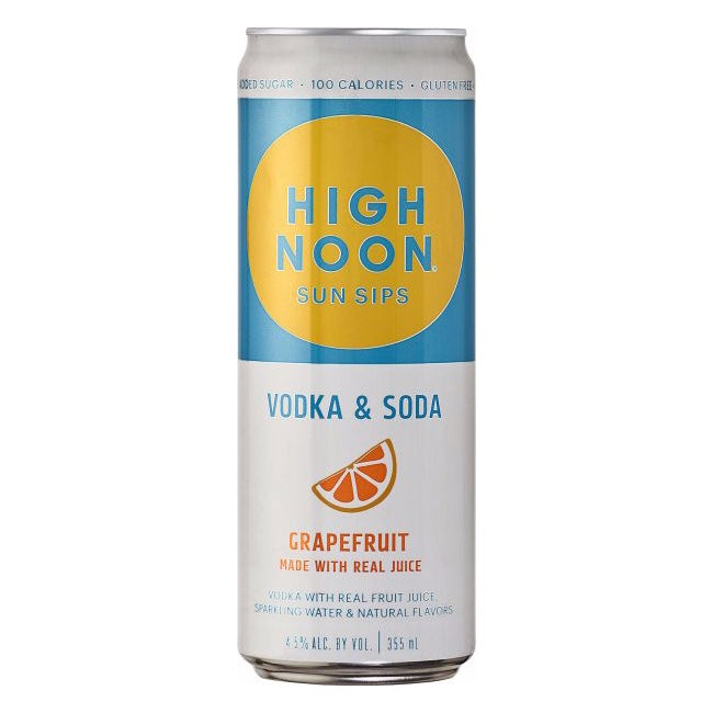 High Noon Sun Sips Vodka & Soda Grapefruit Can 355ml