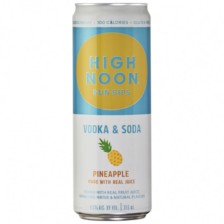 High Noon Sun Sips Vodka & Soda Pineapple Can 355ml