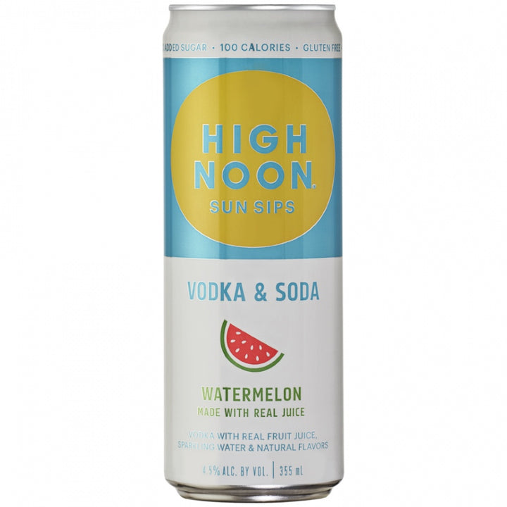 High Noon Sun Sips Vodka & Soda Watermelon Can 355ml