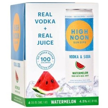 High Noon Sun Sips Watermelon Can 355ml 4 Pack