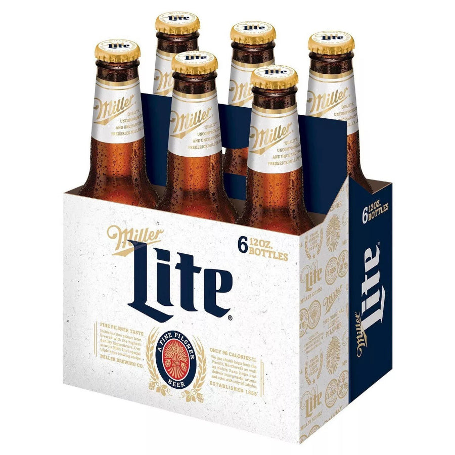 Miller Lite 12oz Bottle 6 Pack