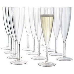 True Party Plastic Champagne Flute Set of 12