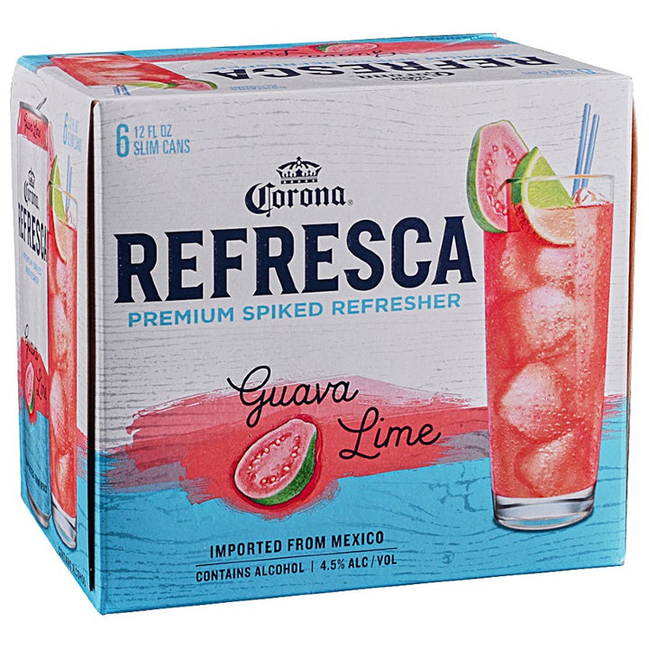 Corona Refresca Guava Lime 12oz Can 6 Pack