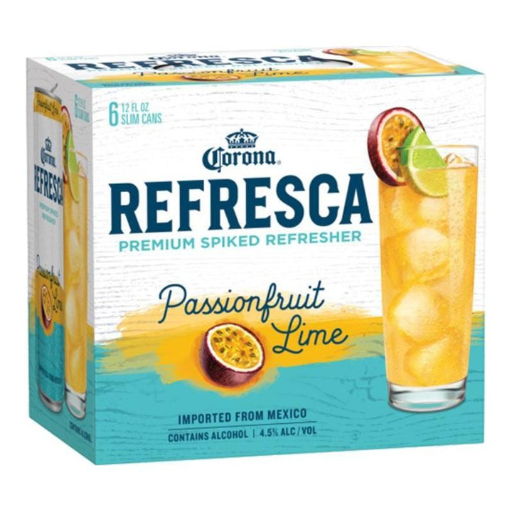 Corona Refresca Passion Fruit Lime 12oz Can 6 Pack