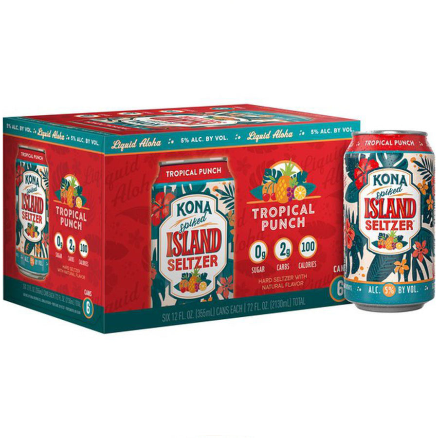 Kona Spiked Island Seltzer Tropical Punch 12oz Can 6 Pack