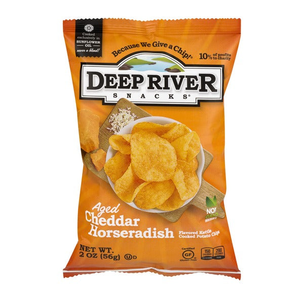 Deep River Aged Cheddar Horseraddish Chips