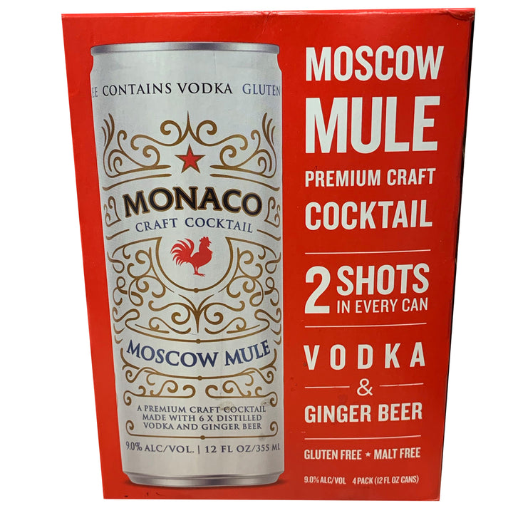 Monaco Moscow Mule  12 oz Can  4 Pack