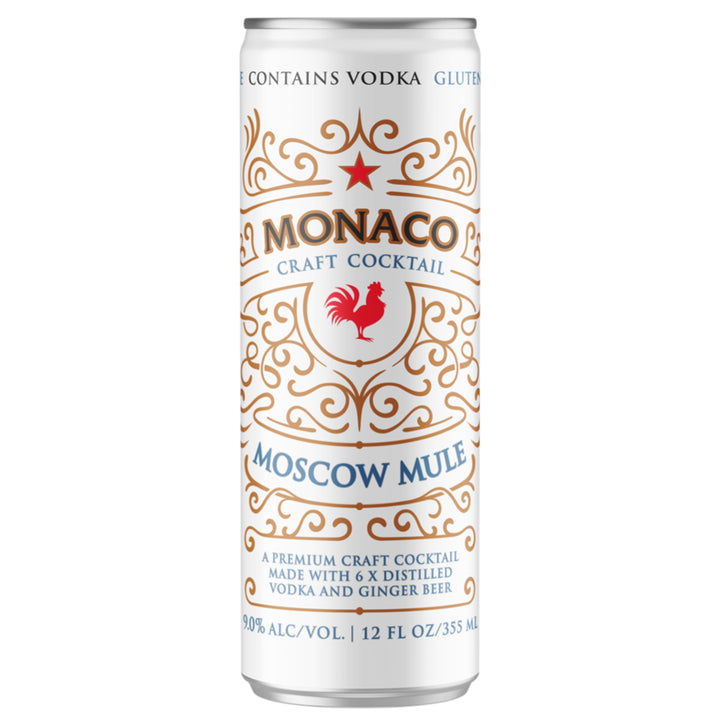 Monaco Moscow Mule Cocktail 12 oz Can