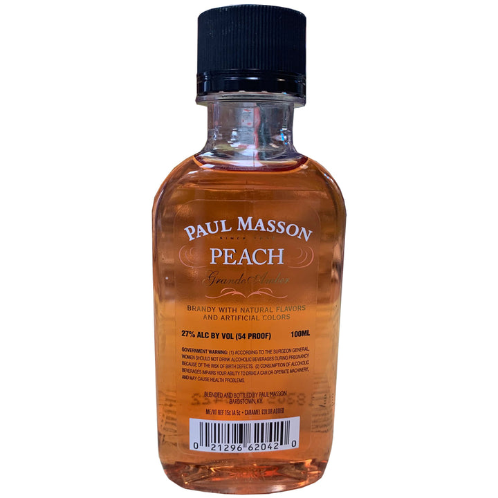 PAUL MASSON GRANDE AMBER PEACH BRANDY 100ML