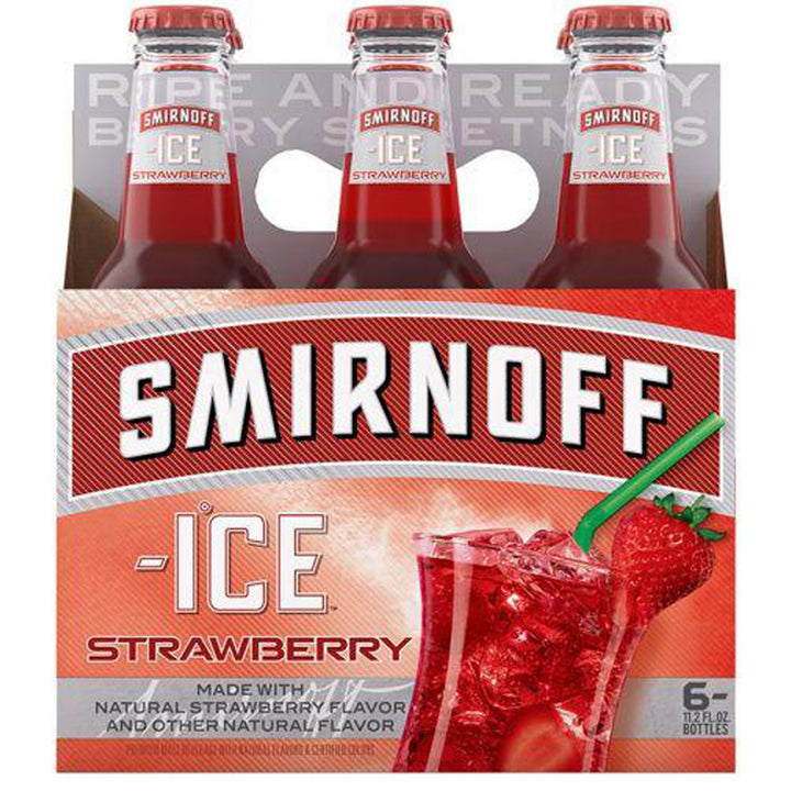 Smirnoff Strawberry 11.2oz Bottle 6 Pack