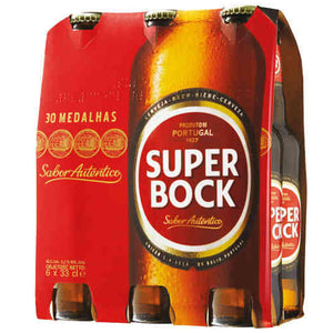 Super Bock 11.2oz Beer Bottle 6 Pack