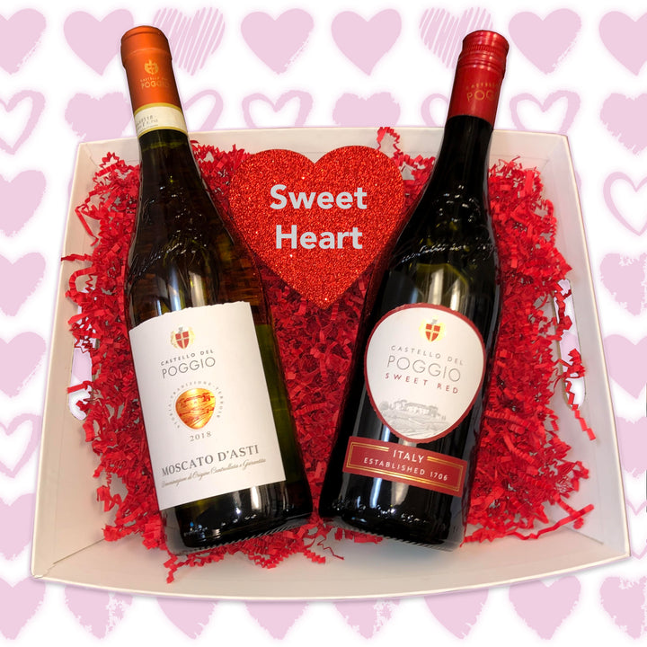 Sweet Heart Wine Basket