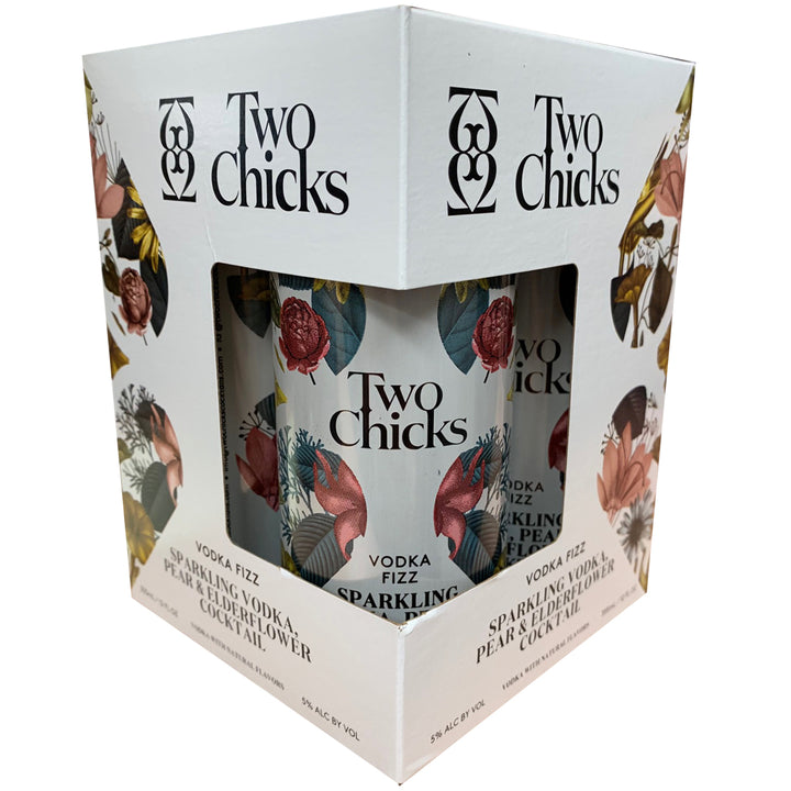Two Chicks Vodka Fizz Cocktail 12oz Can 4 Pack