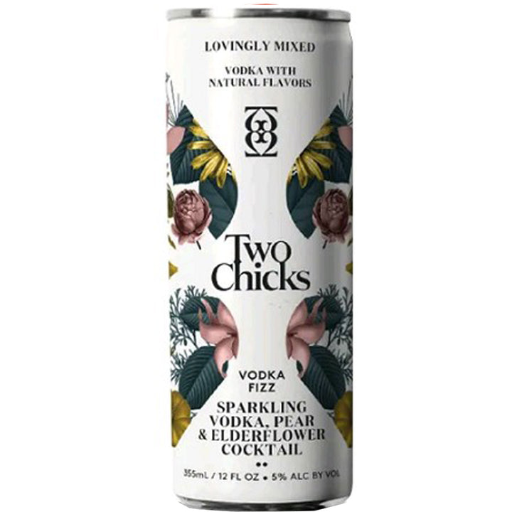 Two Chicks Vodka Fizz Cocktail 12oz Can
