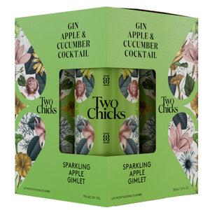 Two Chicks Sparkling Apple Gimlet Cocktail 12oz Can 4 Pack