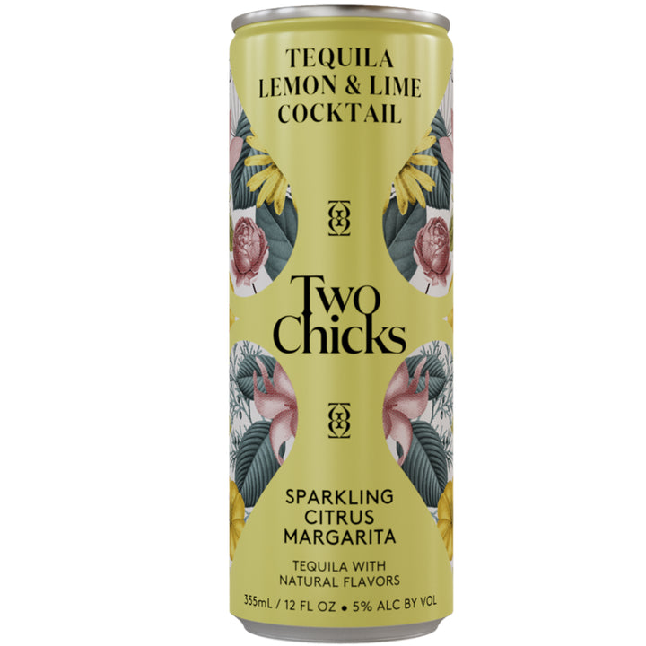 Two Chicks Sparkling Citrus Margarita Cocktail 12oz Can