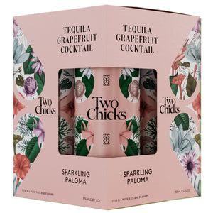 Two Chicks Sparkling Paloma Cocktail 12oz Can 4 Pack
