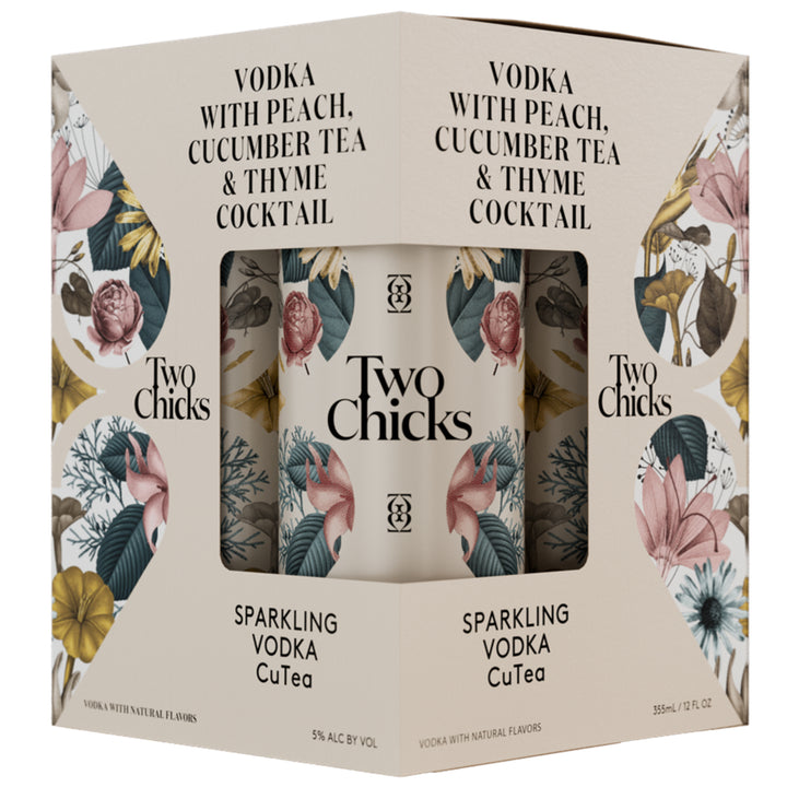TWO CHICKS SPARKLING VODKA CUTEA COCKTAIL 12 OZ CAN 4 Pack