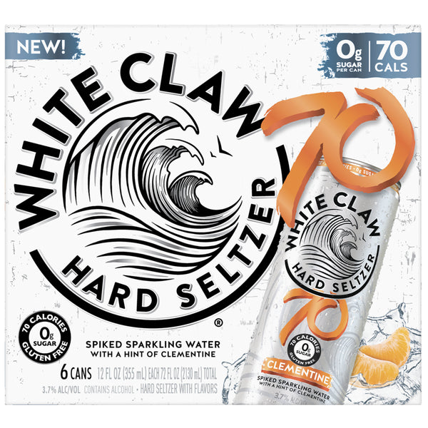 White Claw 70 Clementine 12oz Can 6 Pack