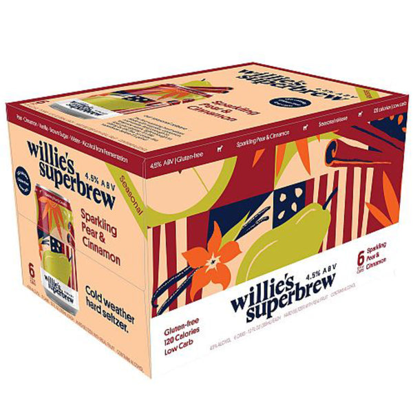 Willie's Superbrew Pear & Cinnamon Hard Seltzer 12oz Can 6 Pack