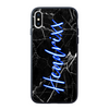 Custom Glow Handwriting Marble iPhone Case