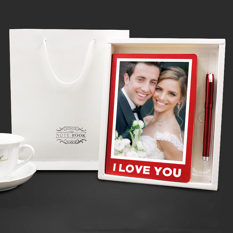 Custom Premium Notebook Gift Box with Photo - icreatifes