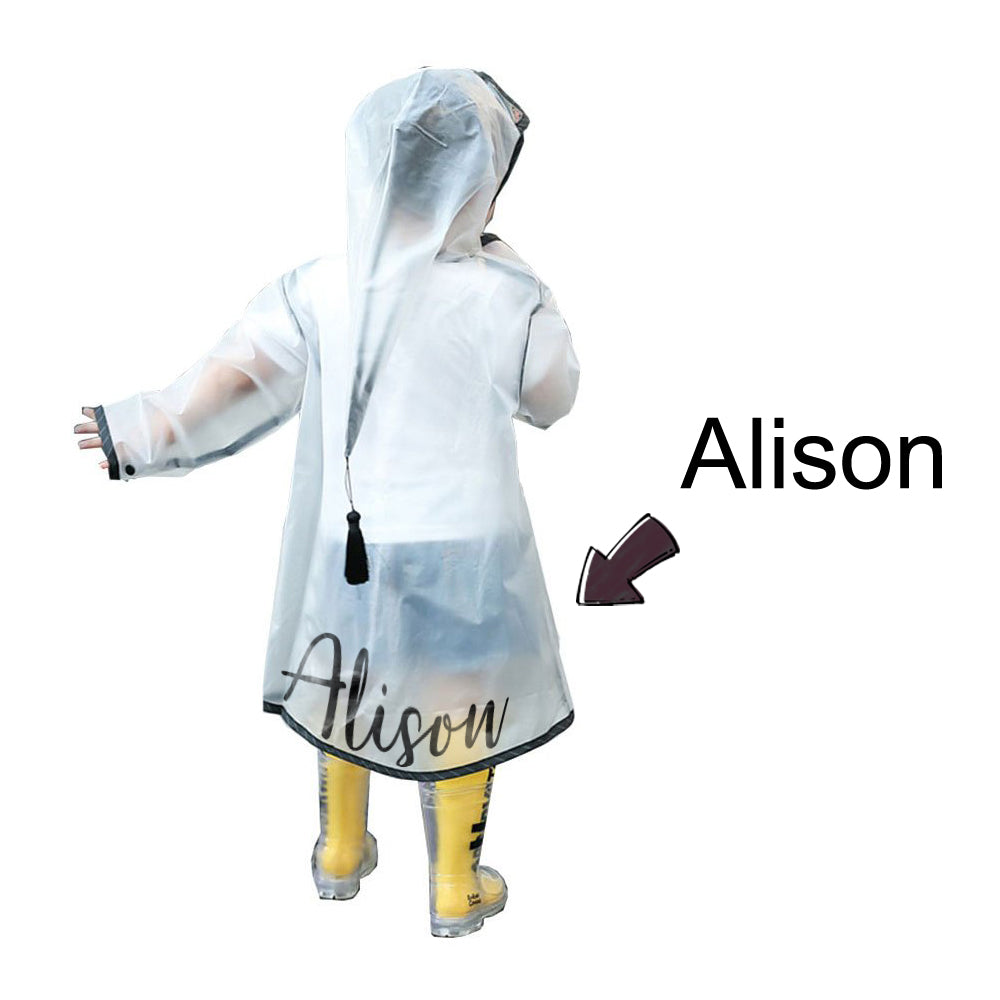 Custom Raincoat with Name