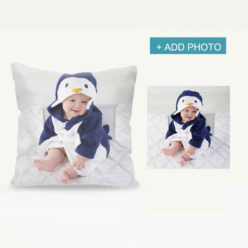 Custom Pillow Cover with Photo