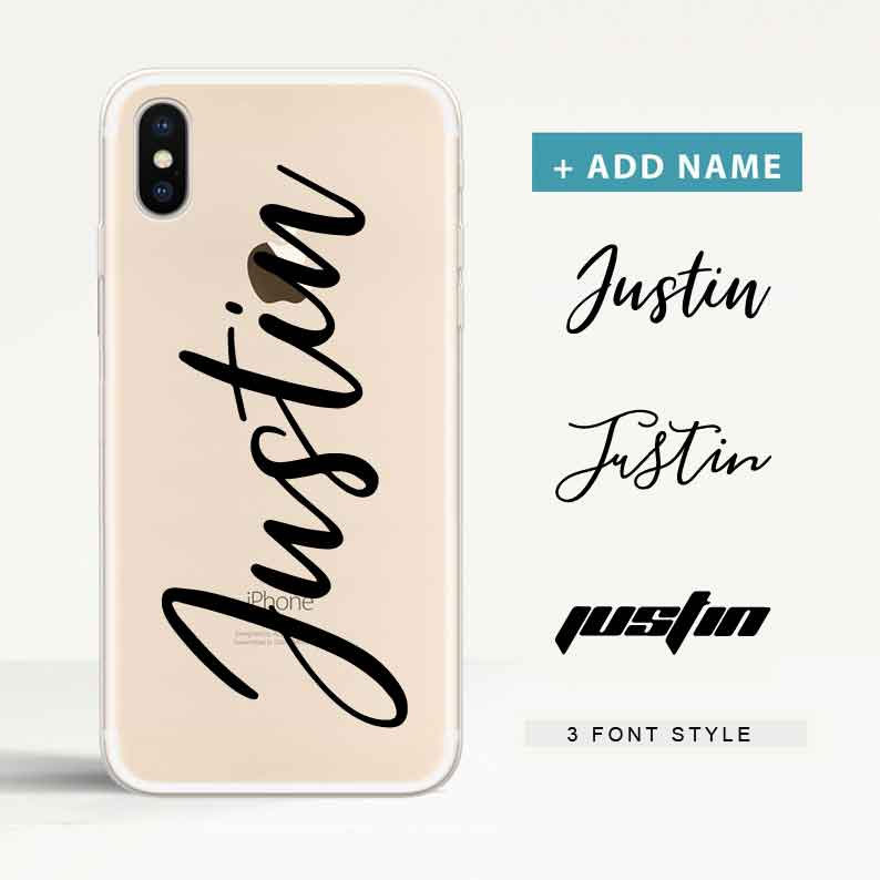 Custom Clear iPhone Case with Name