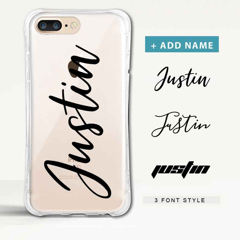 Custom Curvy Protection iPhone Case with Name